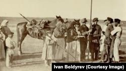 Проводы донских казаков на военную службу. Сентябрь 1876. Фото Ивана Болдырева