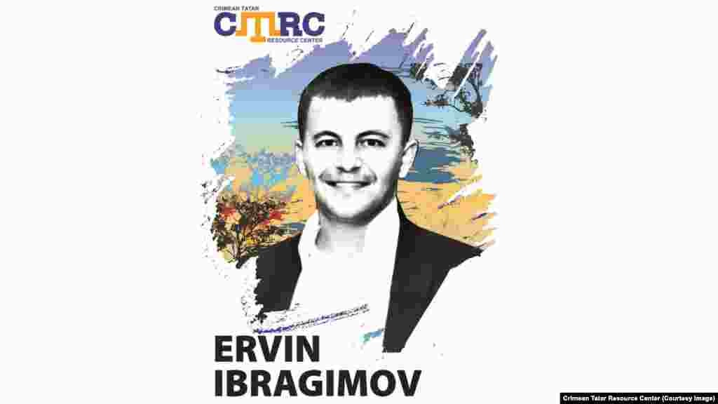 Ervin Ibragimov, Crimean Tatar member of Bakhchysarai Municipal Council, senior specialist for interethnic relations at the Bakhchysarai City Administration In May 2016, witnesses said unidentified people wearing Russian road police uniforms stopped Ibragimov's car near his house in Bakhchysarai. He was forced into another car and taken to an unknown location. On June 1, his passport and employment record book were found near the Arpat bar in Bakhchysarai. He was 30 at the time of his disappearance.