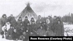 Опергруппа НКВД, проводившая карательную операцию в тундре. 1934 год