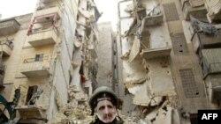 Алеппонун чет райондорунун бири. 5-январда тартылган сүрөт.