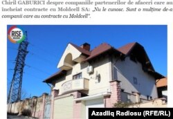 Rise Moldova bu evin Moldovanın yeni Baş naziri Chiril Gaburici-yə məxsus olduğunu yazır