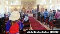 قداس في كنيسة الارمن في محافظة دهوك