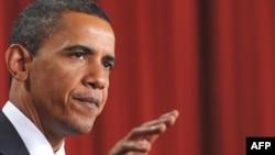Президент США Барак Обама выступает в Каире 4 июня 2009 года.