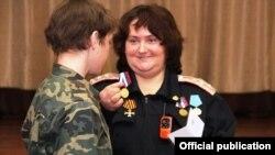 Тацяна Гаўрыліна на сустрэчы ў 19-й аршанскай школе