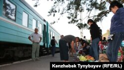 Железнодорожная станция в Алматинской области. Иллюстративное фото.