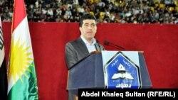 رئيس حكومة إقليم كردستان العراق نيجيرفان بارزاني يتحدث في جامعة دهوك