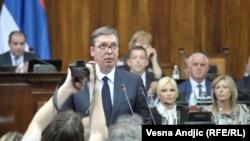 Aleksandar Vučić u Skupštini Srbije