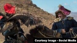 Монгольские казахи на охоте. Баян-Улгийский округ Монголии.