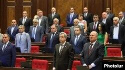 Հանրապետական խմբակցության պատգամավորները ԱԺ նիստի ժամանակ, արխիվ