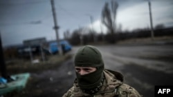 Дебальцево маңында тұрған украин әскері. Донецк, 2 ақпан 2015 жыл.