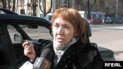Мұхтар Әблязовтың әпкесі Шолпан Әблязова. Алматы, 20 наурыз, 2009 жыл.