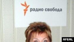 Элла Полякова в студии Радио Свобода