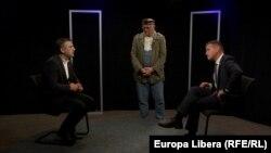 Vasile Botnaru, Vlad Țurcanu și Valeriu Munteanu la dezbaterea din studioul Europei Libere