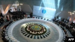 A general view of the Congress of World and Traditional Religions, meeting in Astana in July 2009