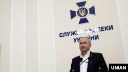 Голова СБУ Василь Грицак під час брифінгу, Київ, 29 липня 2015 року