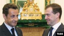 После встречи с Дмитрием Медведевым Николя Саркози направился в Тбилиси