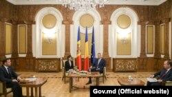 Maia Sandu cu președintele României, Klaus Iohannis la București