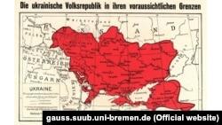 Німецька карта України початку 1918 року