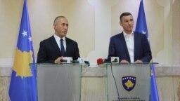 Kryeministri Ramush Haradinaj dhe kryeparlamentari, Kadri Veseli.