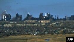 Pamje e qytetit Mariupol në Ukrainë