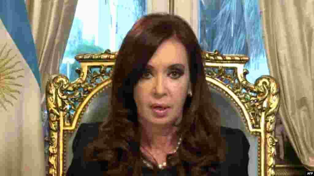 Argentina prezidenti Cristina Fernandez de Kirchner