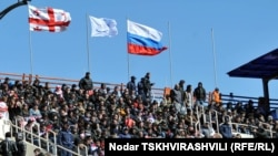 Georgia -- The Georgian rugby team has defeated Russia 46:0 in the fifth tour of the 2012 European National Cup, Tbilisi, 17Mar2012
