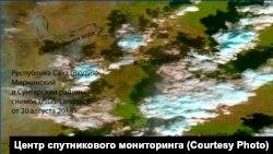 Космический снимок от 20 августа