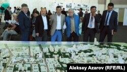 Қаланың құрылысы жоспары макеті. Алматы, 8 қыркүйек 2015 жыл.