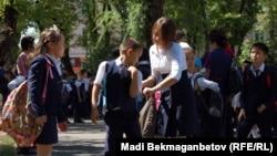 Начало учебного года. Иллюстративное фото. Алматы, 3 сентября 2013 года.
