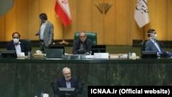 Iran's Parliament discussing coronavirus crisis. Health Minister Saeed Namaki speaking. April 7, 2020