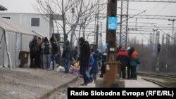 Прифатниот центар за бегалци во Табановце, на македонско-српската граница.