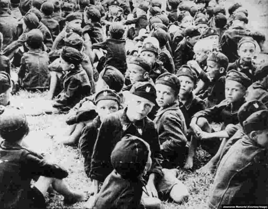 Some children were separated by Stara Gradiska authorities and were to undergo military training.
