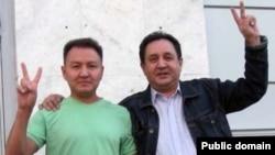 Bashkir journalists Ayrat Dilmukhametov (left) and Robert Zagreev