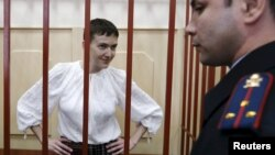 Надія Савченко під час засідання суду у Москві. Архівне фото