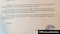 Ftesa e presidentit Thaçi për Albin Kurtin