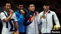 Данияр Қайсанов күміс медаль алған сәт. Джакарта, 19 тамыз 2018жыл.