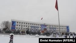 Центральная площадь, Ош, 30 декабря 2012 года.