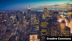 Вечерняя панорама Нью-Йорка