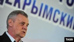 Қырымдағы референдумды өткізу комиссиясының басшысы Михаил Малышев. Севастополь, 16 наурыз 2014 жыл.