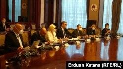 Delegacija Srbije na sastanku u Vladi RS