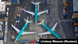 Самолеты Boeing 737 MAX на заводе корпорации в городе Рентон, штат Вашингтон в марте 2019 года.