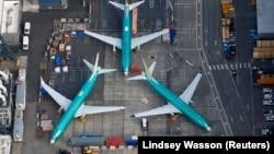Самолеты «Боинг 737 MAX» на заводе в Рентоне, штат Вашингтон (США).