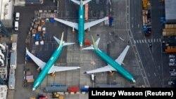 """Боинг 737 MAX"" на заводе в Рентоне, штат Вашингтон"