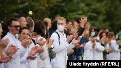 Акция врачей в Минске, 12 августа 2020 года.