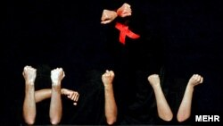 A conceptual art exhibition about AIDS in Tehran on Sunday, December 2, 2007.