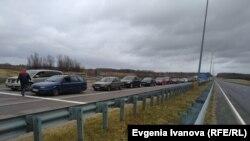 Пробка на границе с Польшей в Калининграде