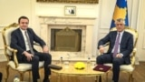 Kosovo: President Hashim Thaci meets with the leader of Vetevendosje, Albin Kurti.