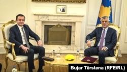 Presidenti Hashim Thaçi dhe kryeministri Albin Kurti.