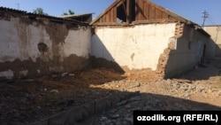 Первая волна сноса жилых домов в селе «Байткурган» началась в прошлом году.