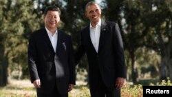Барак Обама и Си Цзиньпин, Калифорния, 8 июня 2013 г.